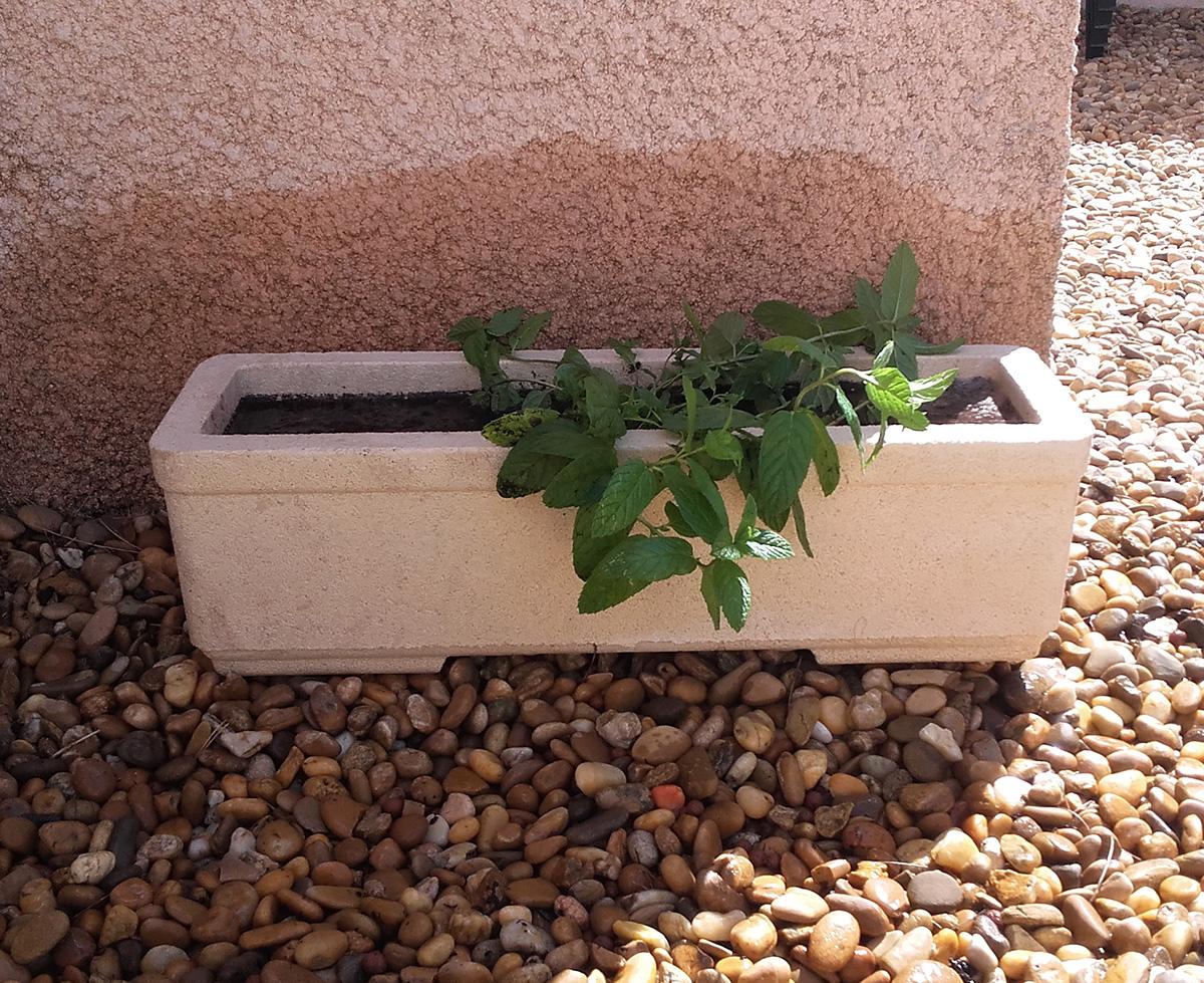 Jardinière 602 marbre blanc